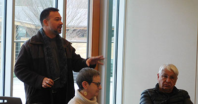 Biz Diversity Founder, Samuel Rodriez speaks at a Hispanic Arte & Culture meeting with Kenmore City Hall on February 2nd