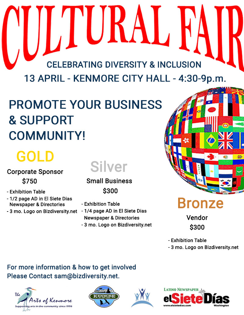 Cultural Fair -Promote Your Business & Support Community!
