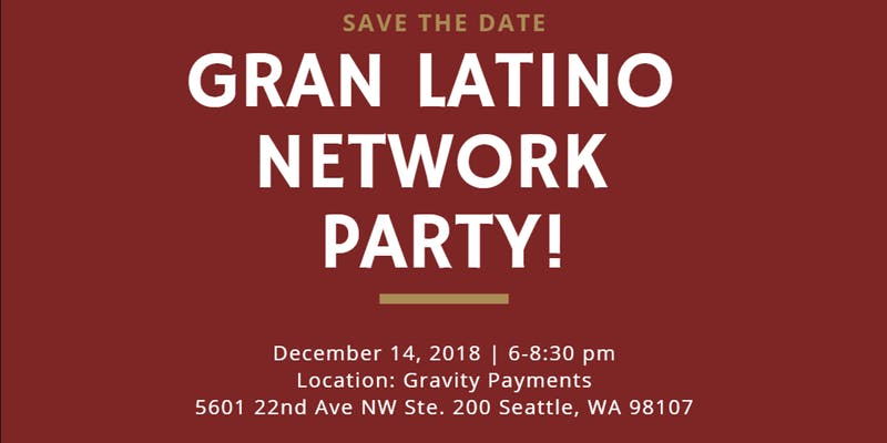 Save the Date - 2018 Gran Latino Network Party on December 14th