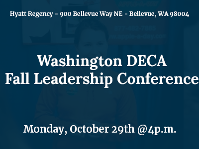 Scenes from Washignton DECA Conference in Bellevue, WA on October 29, 2018