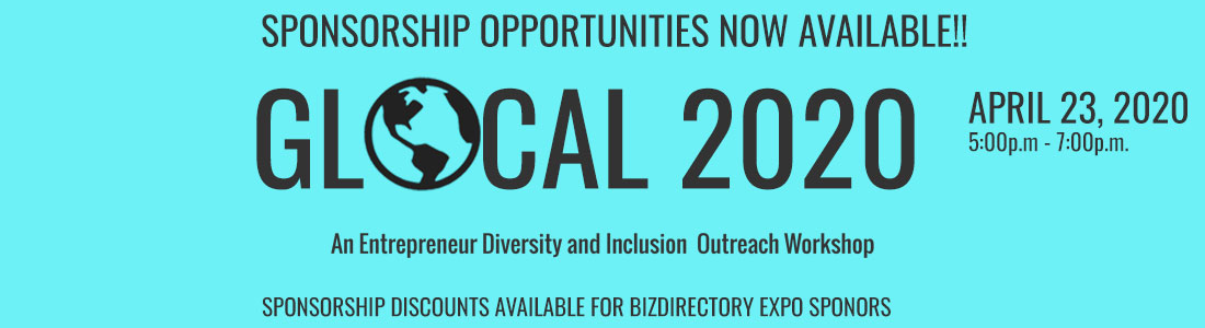 Become a Gold, Silver or Bronze Sponsor for GLOCAL 2020 DEI Worskhop  on Thursday, April 23, 2020 from 5-7p.m.